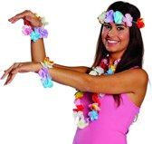 Rubie's Hawaiiset Unisex Multicolor 4-delig