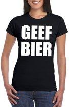 Geef Bier dames T-shirt zwart XL