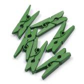 Mini Wasknijpers - Hout - Groen - 3 cm - 200 stuks