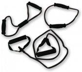 RS Sports - Tubing set l Expander l Weerstandsband - 3 stuks - heavy - zwart