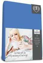 Bed-fashion jersey hoeslaken Medium bleu - 80 x 210 cm - Medium Bleu