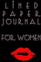 Lined Paper Journal for Women