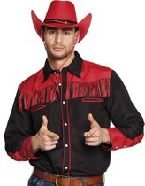 St. Shirt Western zwart/rood (M)