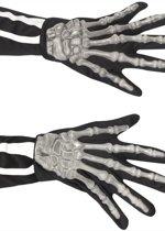 Skelet Handschoenen voor volwassenen - Magere hein handen - Halloween artikelen