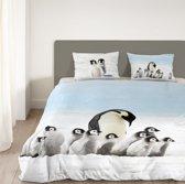 Goodmorning Dekbedovertrek Pinguins-200 x 200/220 cm
