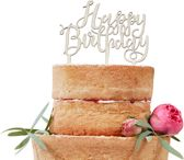 Houten Taarttopper Happy Birthday - Caketopper