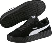 PUMA Smash Platform Sd Sneakers Dames - Puma Black / Puma White - Maat 40.5