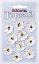 FLORELLA-Bloemen wit, 2,5cm