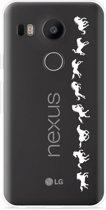 LG Nexus 5X Hoesje Horses in Motion