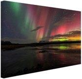 Noorderlicht in IJsland Canvas 120x80 cm - Foto print op Canvas schilderij (Wanddecoratie)