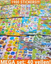 Stickers 40 Vellen Voor Kinderen Jongens   Mega set 3D Foam Smilies Dino Auto   KMST015