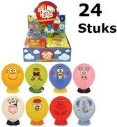 24 STUKS MIX Dieren Ballon Hoofden | Maak je eigen Dieren Ballon Hoofd | Uitdeelcadeautjes / Traktatie voor Jongens en Meisjes