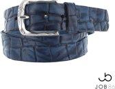 Blauwe vintage kroko riem-maat 95