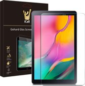 iCall - Samsung Galaxy Tab A 10.1 (2019) Screenprotector - Tempered Glass Gehard Glas - Case Friendly