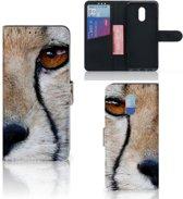 OnePlus 6T Telefoonhoesje met Pasjes Cheetah