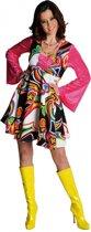 Gekleurde hippie jurk voor dames 42 (xl)