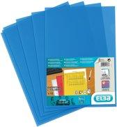18x Elba L-map Shine, blauw, pak a 10 stuks
