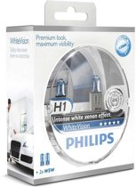 Philips WhiteVision Set H1 incl 2 W5W 12258WHVSM