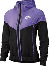 Nike Nsw Wr Jkt Windrunner Dames - Black/Space Purple/(White) - Maat S