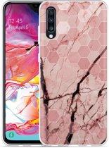 Galaxy A70 Hoesje Pink Marble