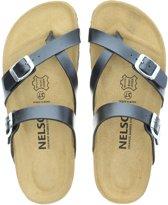 Nelson dames slipper - Zwart - Maat 42