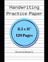 Handwriting Practice Paper: : Kindergarten Practice Writing Paper with Lines for ABC Kids: Fun Writing Paper for Kids with Dotted Lined - 120 page