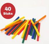 Premium Lijmsticks 40 stuks – Lijmpistool Vullingen – Lijmpatronen Set – Universeel – Creatief – Knutselen – Hobby - 7mm - Kleur