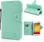 MLT Wallet Case Samsung Galaxy Note 3 Cyan