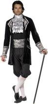 Zilverkleurige barok kostuum voor heren - Verkleedkleding