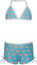 Snapper Rock UV werende Bikini Kinderen Zeester - Blauw - Maat 116-122