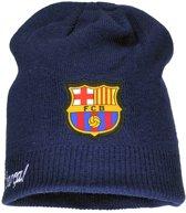F.C. Barcelona Beanie Muts Donkerblauw / Grijs / Zwart
