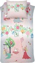 Cinderella Dreamland Dekbedovertrek - Eenpersoons - 140x200/220 cm - Pink