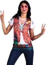 Fotorealistisch shirt Hippie (S)