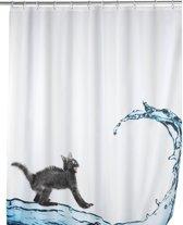 Douchegordijn - Polyester - Anti Schimmel - 180x200 cm - Kat