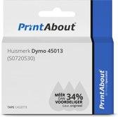 Huismerk Dymo 45013 (S0720530) Tape Zwart op wit (12 mm)