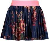 B-Nosy Meisjes rokjes B-Nosy Girls printed velours plissé skirt blauw 146/152