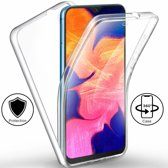 Ntech Samsung Galaxy A10 Dual TPU Case hoesje 360° Cover 2 in 1 Case ( Voor en Achter) Transparant