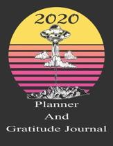 2020 Planner And Gratitude Journal: Sci -Fi Alien Diary