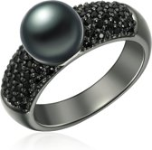 Valero Pearls parel Ring - Sterling zilver - Zwart