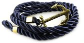 Armband-touw-anker--donkerblauw