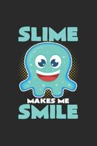 Slime smile: 6x9 Slime - grid - squared paper - notebook - notes