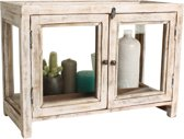 One World Interiors Vitrine kastje - Glas - Showcase - Wit