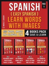 Spanish ( Easy Spanish ) Learn Words With Images (Pack 1)