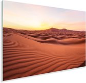 Het Afrikaanse woestijngebied Erg Chebbi in Marokko Plexiglas 180x120 cm - Foto print op Glas (Plexiglas wanddecoratie) XXL / Groot formaat!