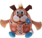 Eddy Toys Dierenvriend Knuffel Hond 20 Cm Oranje