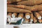 Fotobehang vinyl - De cassaven die worden verkochten in de straten van Rio de Janeiro breedte 540 cm x hoogte 360 cm - Foto print op behang (in 7 formaten beschikbaar)