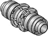 Uponor MLC rechte koppeling, sok 25 x 25mm