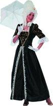Markiezin taft jurk middeleeuwen zwart Maat 42