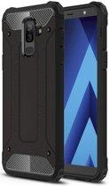 Samsung Galaxy A6 Plus Hybride Hoesje Zwart
