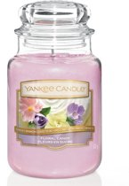 Yankee Candle Large Jar Floral Candy - 10x17 Cm - Roze